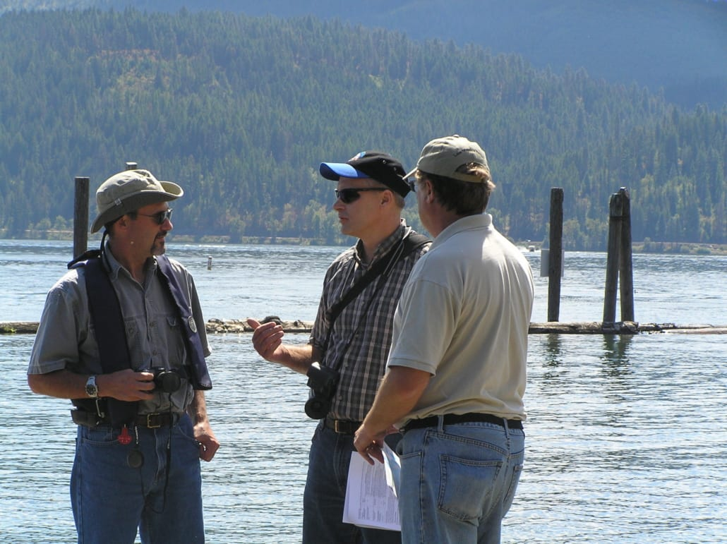 Aquatechnex Owner and Biologist Conversing Picture